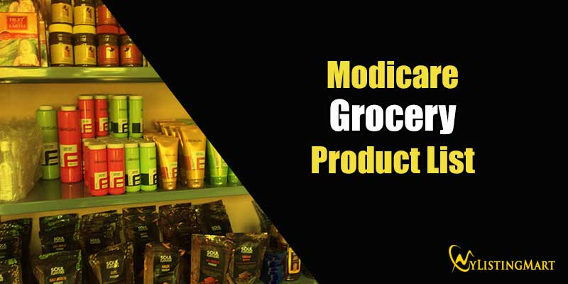 Modicare Grocery Product List