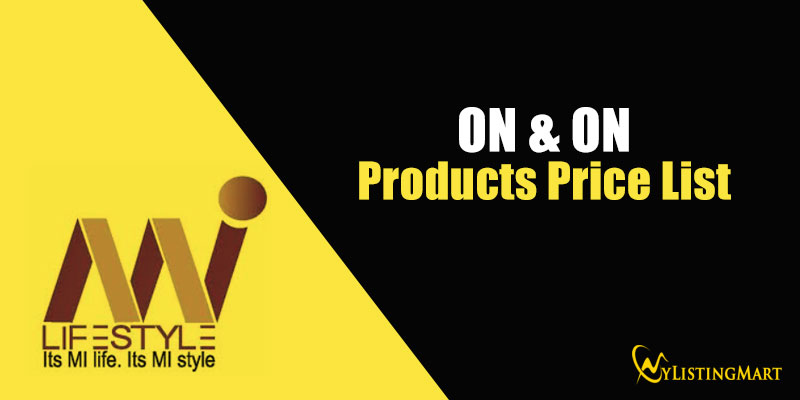 ON & ON Products Price List