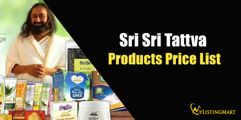 Sri Sri Tattva Products Price List